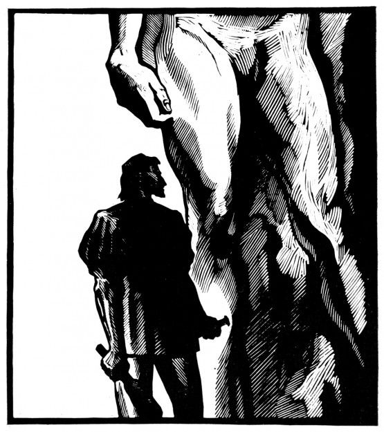 "Бисти Д.С. – Микеланджело. Иллюстрация к роману И.Стоуна  ""Муки и радости"". 1972."