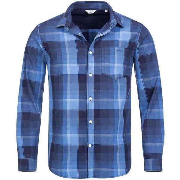 Jack and Jones Herren Hemd Slim Fit Knopfleiste kariert Brusttasche... (115 BRL) ❤ liked on Polyvore featuring outerwear, jackets, blazers, slim fit jackets, blue blazer, navy blue blazer, slim blazer and blue blazer jacket