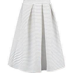 Miss Selfridge Spódnica plisowana white