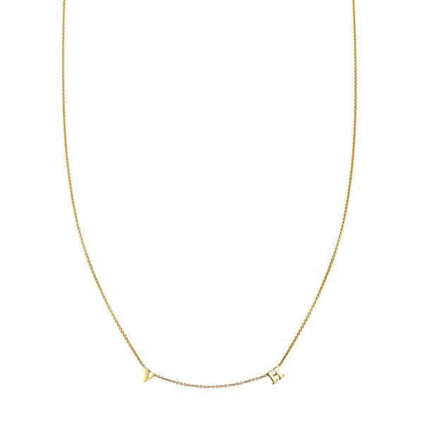 2 Letter Gold Initial Necklace Initial Necklace Initial Necklace Gold Gold Initial
