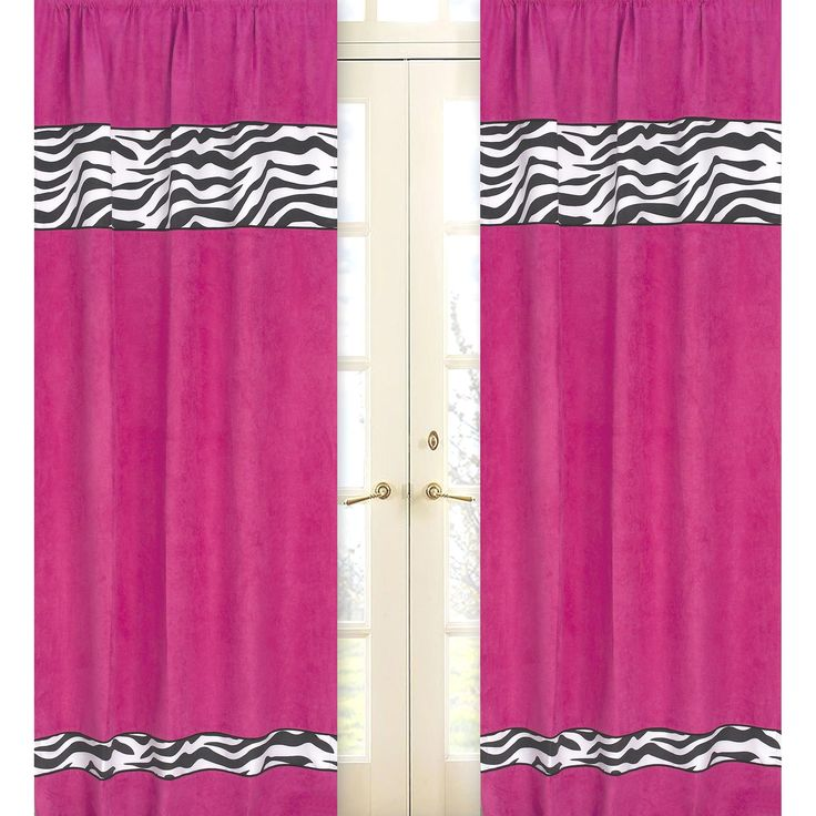 Funky Zebra Window Treatment Panels   Set Of 2 Create A Stylish Look With  These Sweet Jojo Designs Window Panels. Pair With Coordinating Sweet Jojo  Designs ...