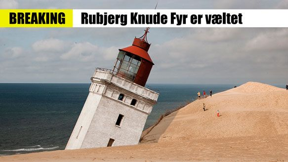 RUBJERG KNUDE FYR ER VÆLTET - aprilsnar 2014