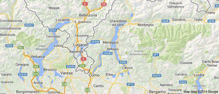 Comojärvi Pohjois Italiassa.