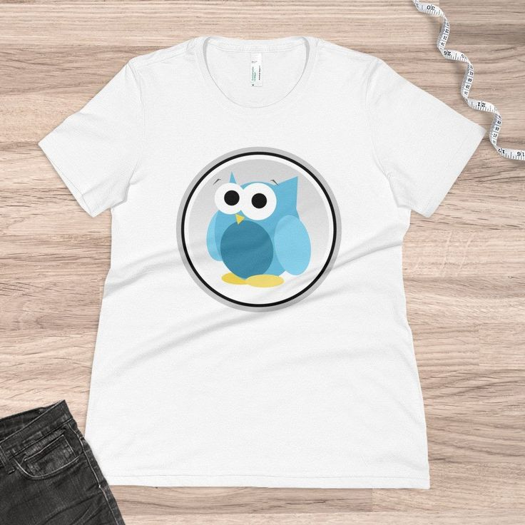 Funny Cute Blue Owl - Women's Organic T-Shirt