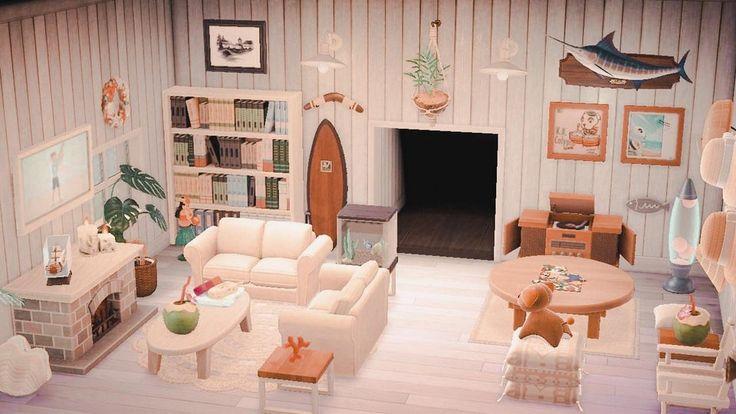 Beachy, boho & retro vibes : AnimalCrossing in 2020 ... on Animal Crossing New Horizons Bedroom Ideas  id=25335