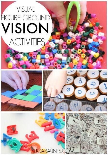 Visual Figure Ground Activities for kids