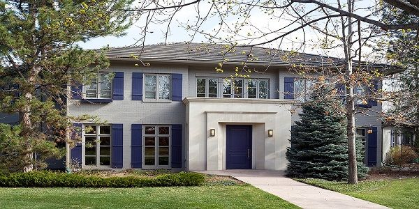 Exterior House Color Trends with French Country Style