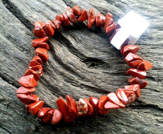 Red Jasper Gemstone Crystal Chip Healing Beaded by crystalzngems