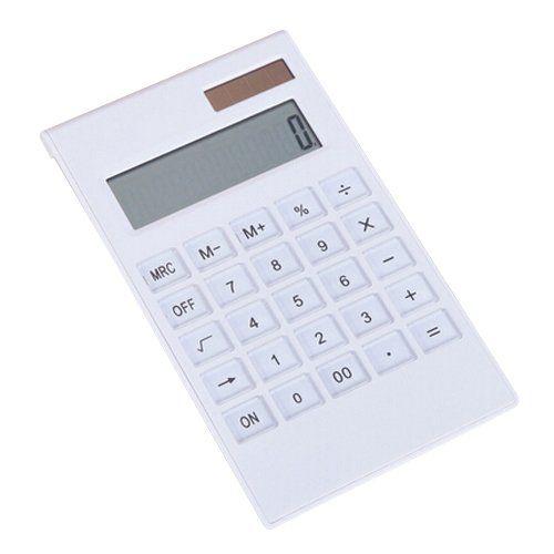 Badalink Solar Transparent Mini Technisch-wissenschaftlicher Rechner Kalkulator Tischrechner mit Nat�rlichem Display - Wei�