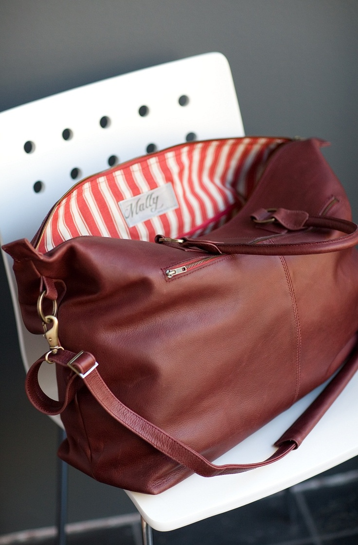 Mally leather weekender bag