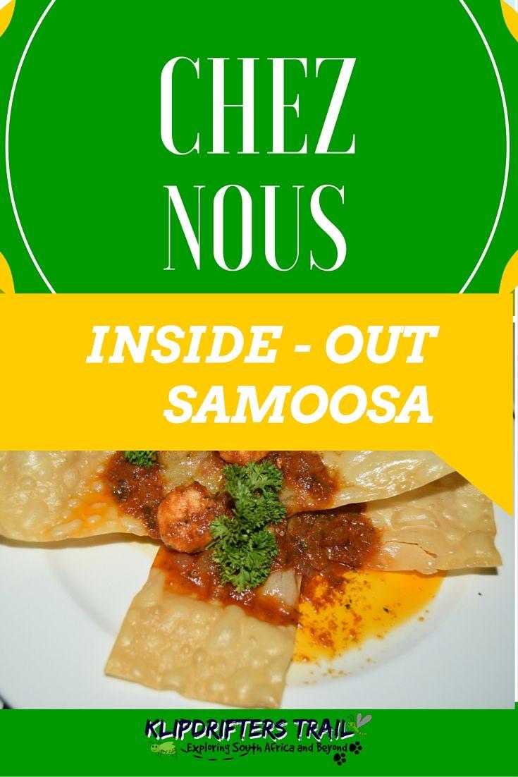 CHEZ NOUS - WESTVILLE Check out the inside out samoosa: http://www.klipdrifters.com/chez-nous/ #samoosa #southafrica #westville #food #resturant #africa