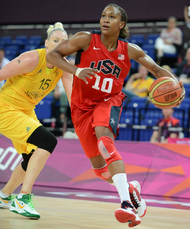 August 9: USA 86, Australia 73    Tamika Catchings and the USA came out strong in the second half and defeated Australia to advance to the gold medal game.