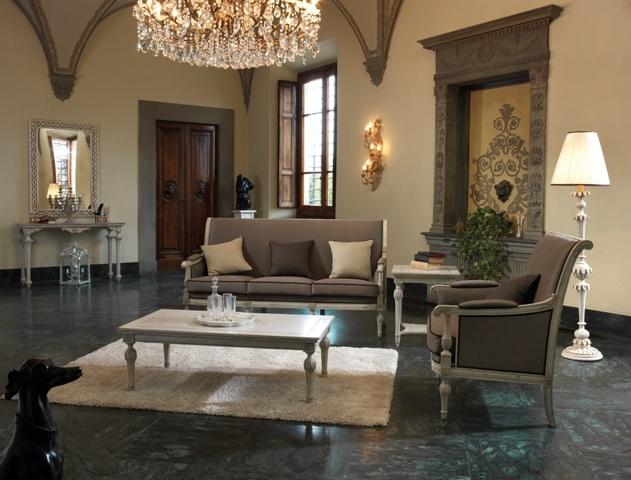 Item N.1314 Neoclassical Sofa  Item N.1317 Neoclassical Armchair