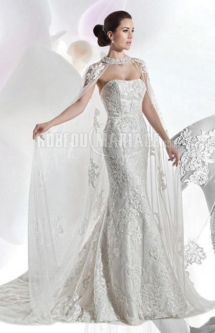 Sirène dentelle col en cœur robe de mariée 2015 broderie [#ROBE209844] - robedumariage.com