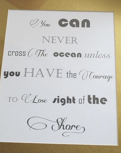 How to Create Framed Art with Words and Text.