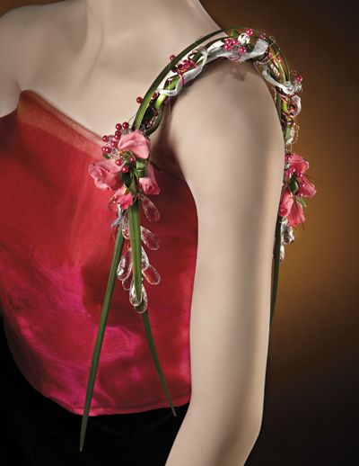 over the shoulder corsages | Photography by Bochsler Creative Solutions. Floral goods donated by ...