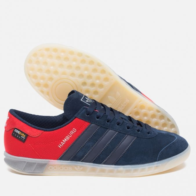 Adidas Originals Hamburg Tech Collegiate Navy/Chalk White. Article: S75504.  Release: