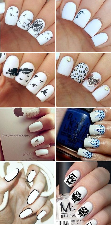 White nail art is just stunning!!   PinToxic