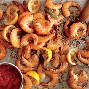 Boiled Shrimp with Tangy Cocktail Sauce | MyRecipes.com