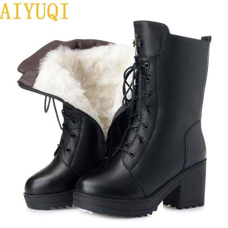 <b>AIYUQI</b> Women boots <b>2019 new genuine</b> leather women military ...