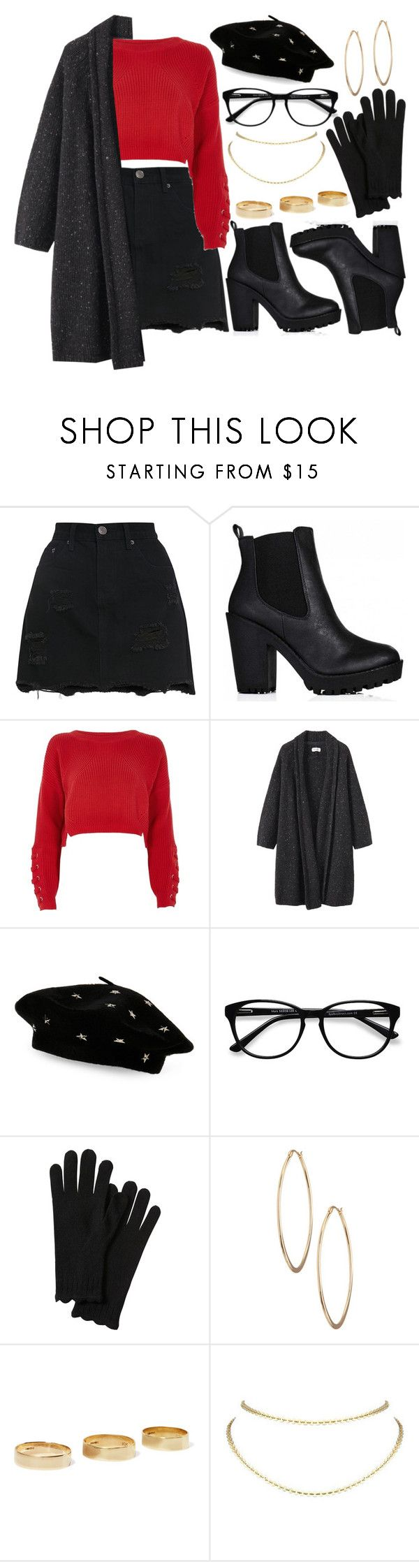 """Untitled #1356"" by asoul4 ❤ liked on Polyvore featuring River Island, Toast, Steve Madden, EyeBuyDirect.com, Lydell NYC, Loren Stewart and Lisa Freede"