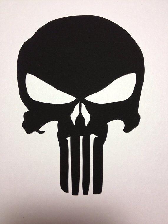 Punisher Skull symbole piquéesmain noir par CuttingPixels ...