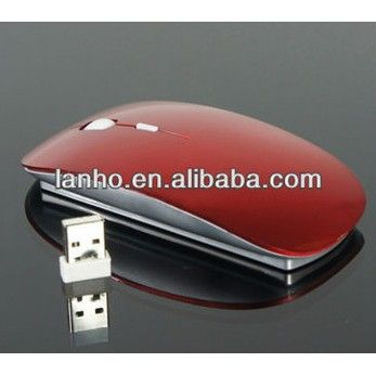 2013 NEW 2.4 G Wireless Optical Mouse For APPLE Mac Laptop Red