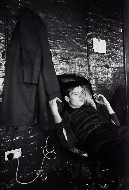 One of my favourite pis of Ian Curtis at TJ Davidson's Rehearsal Rooms, Manchester, August 1979, by Kevin Cummins