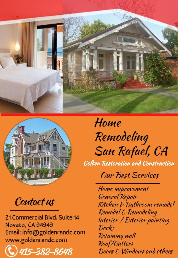Visit Golden Restoration Construction And Find Wonderful Home Remodeling Services In San Rafael Ca This Is Building A Deck Deck Builders Remodeling Trends