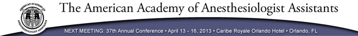 Health Care Professional Associations - American Academy of Anesthesiologist Assistants