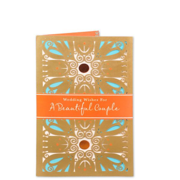 Wedding Wishes For Lovely Couple Wedding Wishes For A Beautiful Couple. It's a day when the sound of shehnai brings blessings and the colour of Mehendi brings a lifetime of commitment... As you two exchange the seven vows and promise to share love, joy and sorrow for a lifetime... Here's wishing. | Rs. 195 | Shop Now | https://hallmarkcards.co.in/collections/wedding-cards/products/shop-marriage-greeting-card-online