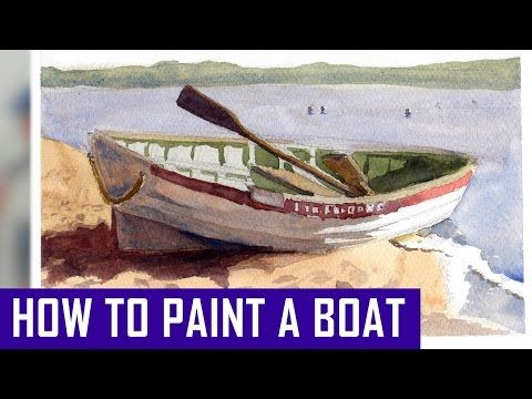 Watercolour Water Lesson - Figure of 8 Boats (Part 1) - YouTube