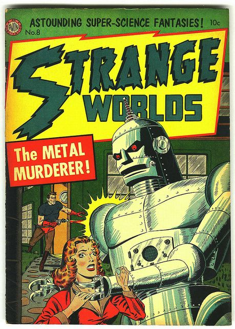 Flyer Goodness: Strange Worlds Comic Covers (1950s)