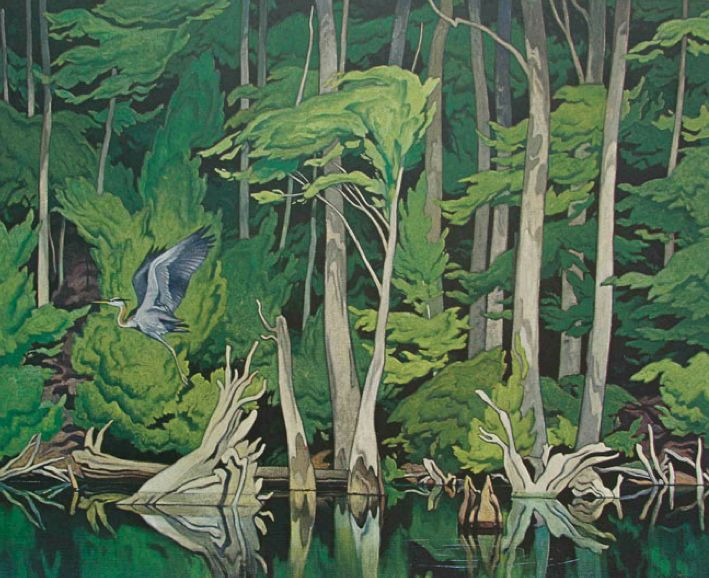 A. J. Casson (Canadian 1898 – 1992) Blue Heron