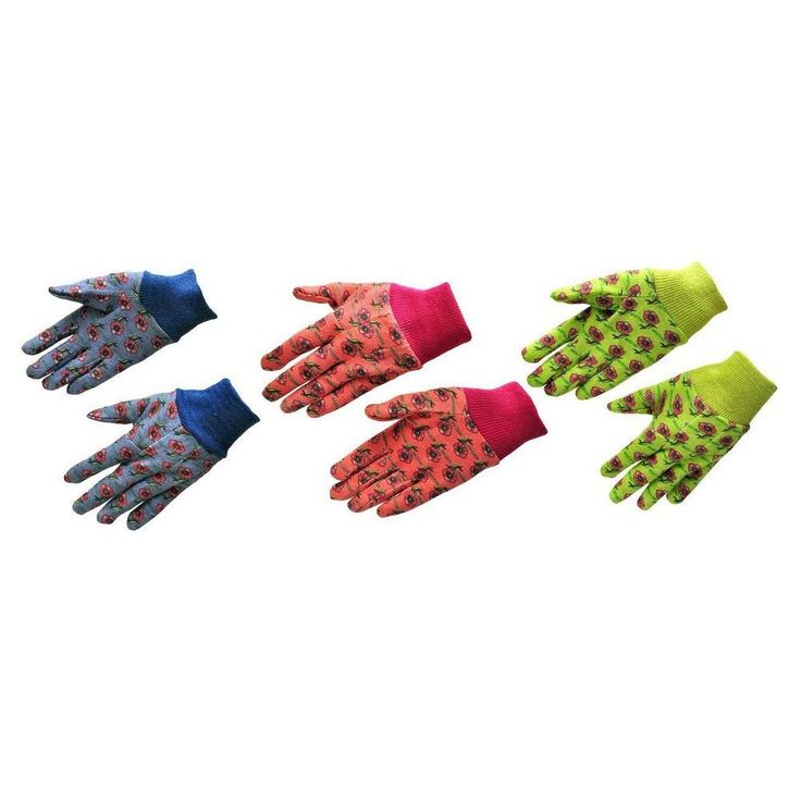 Gardening Gloves JustForKids Multicolor,