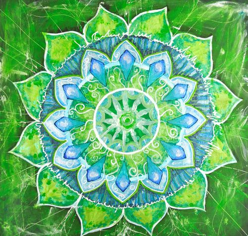 The energy of the heart chakra is depicted as a deep, emerald green color that ties us to all living things around us. Green is associated with new life and natural surroundings – it is tranquil, yet energized, soothing yet vibrant. The energy produced by the heart chakra allows us to have meaningful relationships and to feel empathy, compassion, passion, forgiveness and caring...