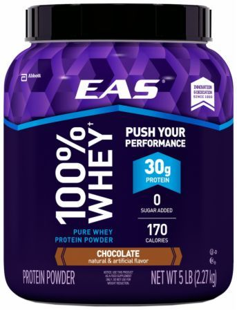 EAS 100% Whey Protein Chocolate 5 Lbs. EAS284 Chocolate - 30g of Quality Whey Protein To Help Serious Athletes Build Stronger And Leaner Muscles*