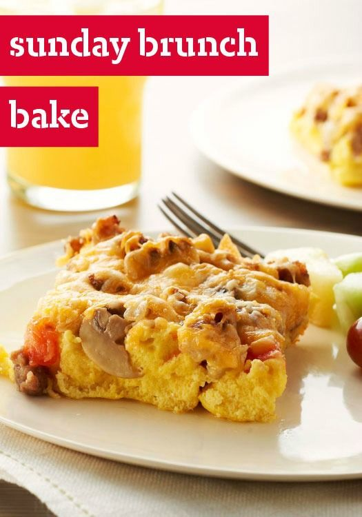 Sunday Brunch Bake -- This cheesy breakfast recipe--made with onions ...