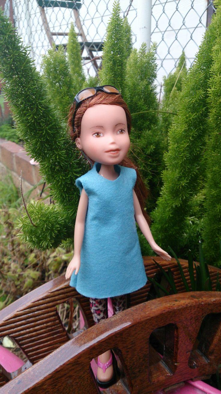 Kislany Rescue Dolls ooak Bespoke Bratz upcycled made-under repaint handmade shift dress