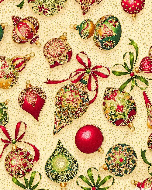 Line Art Quilt Pattern Holly Hickman : Holiday flourish victorian ornaments warm beige gold