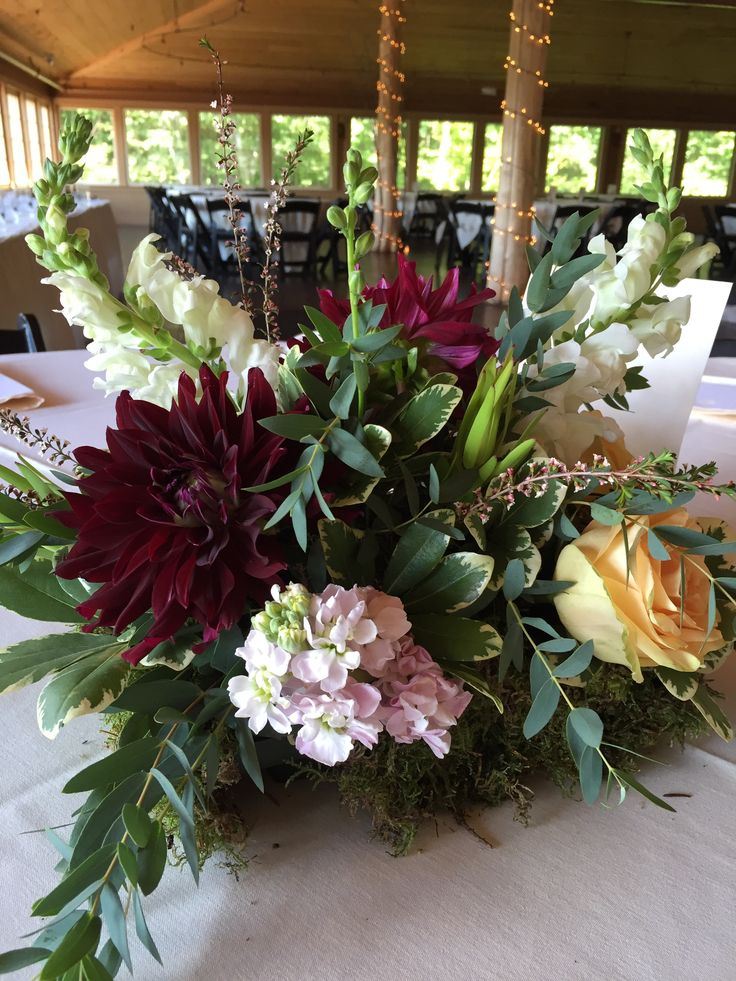 Wedding At The Ponds Bolton Valley Vermont Flowers Centerpiece