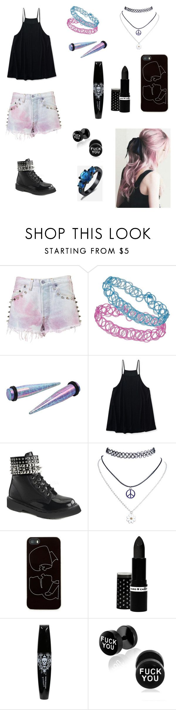 """Pastel Goth (again)"" by aesthetically-cynical ❤ liked on Polyvore featuring The Ragged Priest, Topshop, Aéropostale, Demonia, Wet Seal, Zero Gravity and Hard Candy"