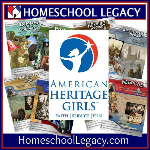 While Once-a-Week Unit Studies are written for ALL homeschoolers, they are the only curriculum on the market that helps American Heritage Girls earn badge requirements while completing the unit study assignments along with the rest of their non-scout siblings. #AHG #unitstudies #homeschool