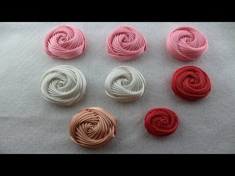 How Make a Rose Flower with Ribbon / Flor Torbellino Paso a Paso / Segunda Tecnica. - YouTube