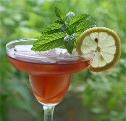 This mocktail can be made with freshly squeezed juice from a pomegranate or by using  Pomegranate Juice. To juice the pomegranate, cut it in half (as you would a grapefruit) and juice using a citrus reamer or a juicer. Pour mixture through a cheesecloth-lined strainer or sieve. One large pomegranate will produce about 1/2 cup of juice. I got this from a pomegranate site.