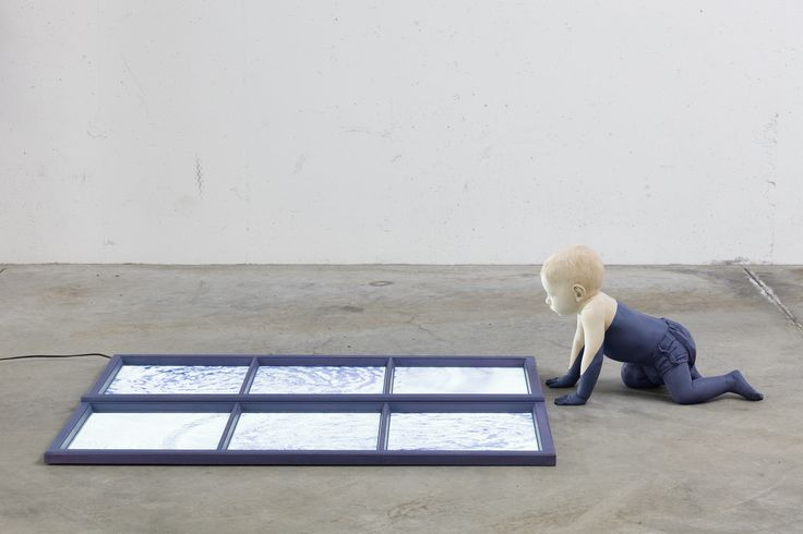 Venire alla luce, 2012, tiglio,abete,acrilico,pellicola LEP, 110x160cm Kopie