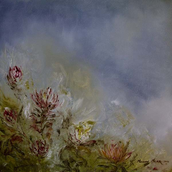 """""""Proteas Storm in the Storm"""" by Melanie Meyer from her Emergence Art Gallery in Cape Town"""