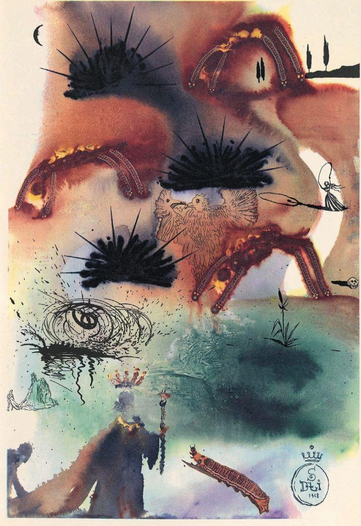 Alice in Wonderland illustrations by Salvador Dalí