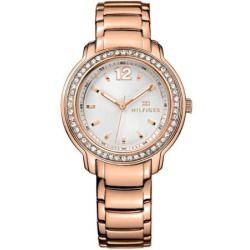 1781468 Tommy Hilfiger Rose Gold-Tone Ladies Watch - Beige Dial