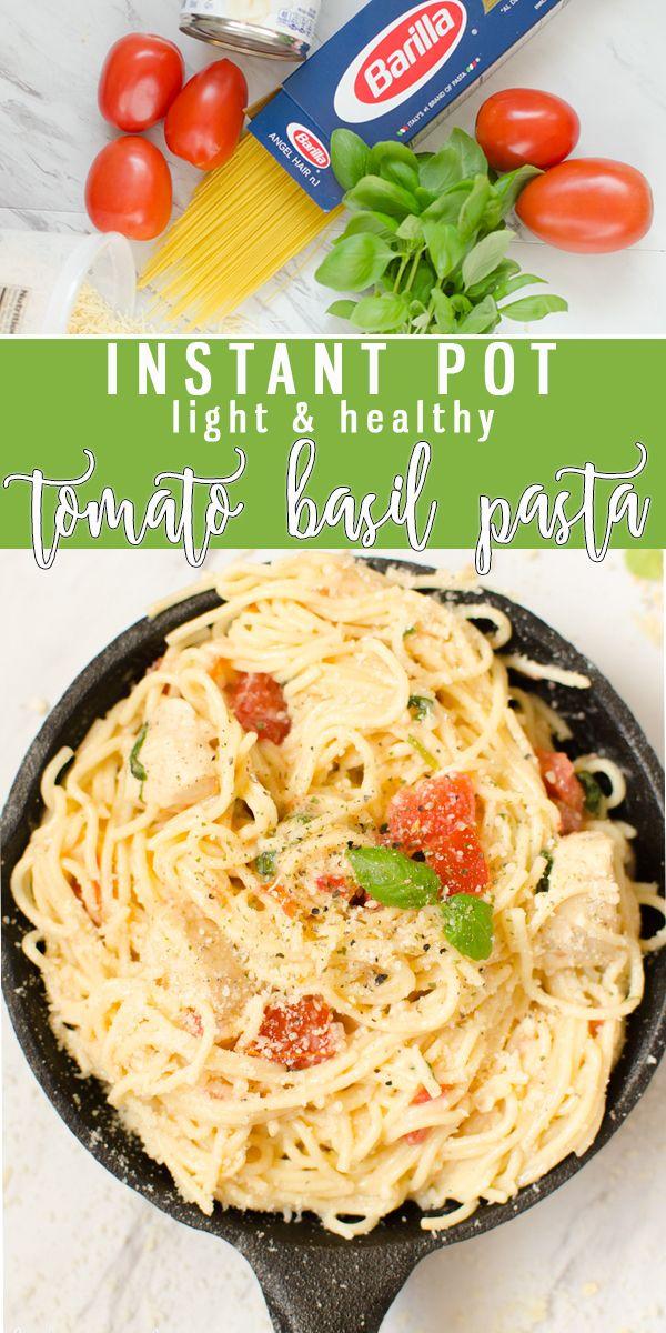 One Pot Tomato Basil Pasta Recipe Light Pasta Tomato Basil